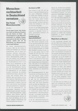 Menschenrechtsarbeit in Deutschland vernetzend : Das Forum Menschenrechte
