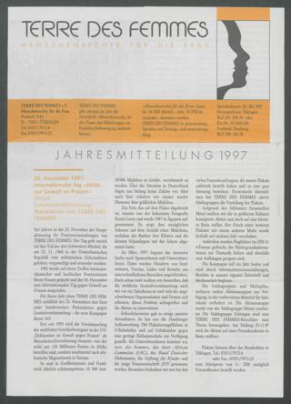 Jahresmitteilung 1997