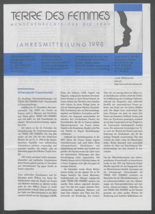 Jahresmitteilung 1998