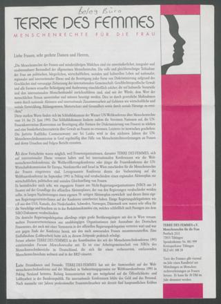 TERRE DES FEMMES - Menschenrechte für die Frau